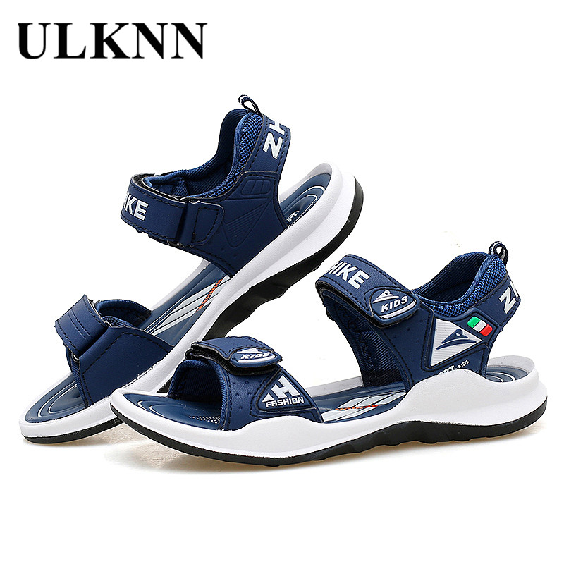 ULKNN 6 BOY'S Red Sandals 7 Boy 8 CHILDREN'S Beach Shoes 9 Big Boy 10 Young STUDENT'S 12-Year-Old  Summer Sandals 2020 New Style