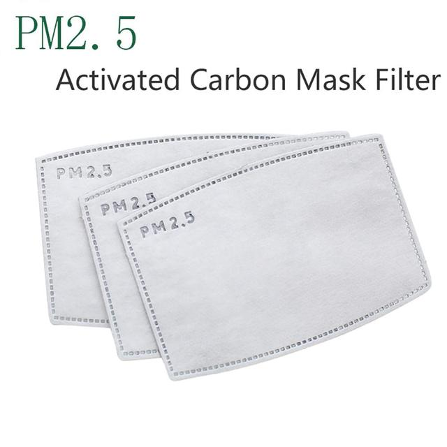 10/50/100 Filters Protective Face Mask Thick Dust And Haze Particles Outdoor Mask For Dust Smoke Allergy Adjustable Reusable 3