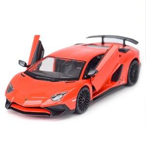 Bburago 1:24 Lamborghini-Aventador SV Coupe спортивный автомобиль статическая литьевая модель автомобиля