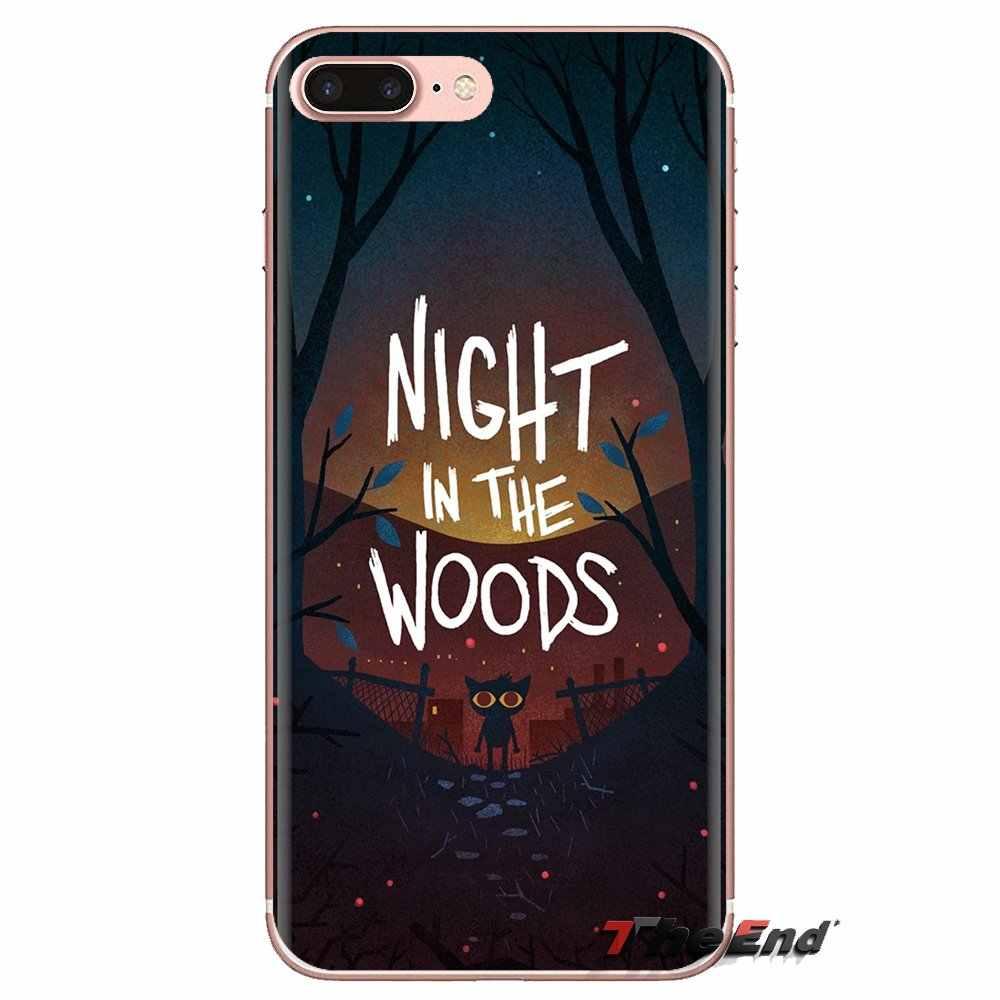 Para Xiaomi Redmi 4A S2 nota 3S 3S 4 4X4 5X5 6 Plus 7 6A Pro teléfono móvil F1 fundas transparentes blandas cubre la Noche de Juego en el bosque