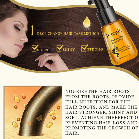 RtopR Morocco Herbal Hair Essential Oil Anti Hair Loss Liquid Thick Fast Hair Growth Treatment Essence Oil Hair Care 35ml TSLM1 Islamabad