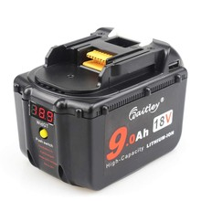 Waitley 18V 9.0Ah Battery for Makita tool BL1830 BL1830USB BL1840 BL1850 BL1860 194204-5 18Volt 9000mAh Lithium-Ion Replacement