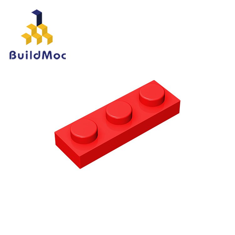 BuildMOC Compatible Assembles Particles 3623 Plate 1 X 3  For Building Blocks Parts DIY Story Educational Creatives Gift Toys