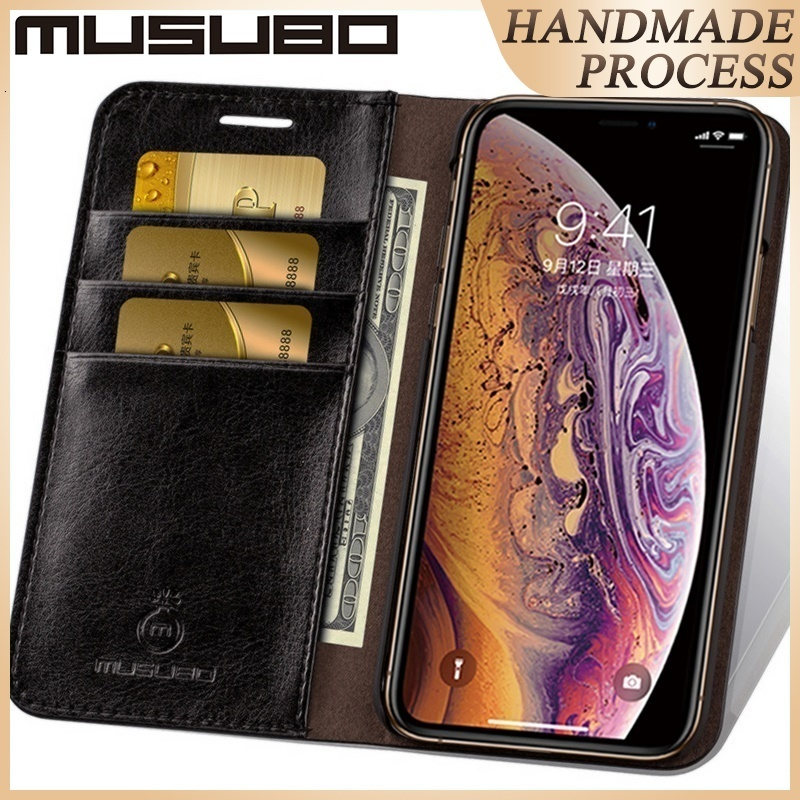 Musubo bőr tok iPhone 8 Plus 7 Plus luxus pénztárca tokokhoz iPhone Xs Max 6 Plus 6s Plus 5 5s SE Capa Coque