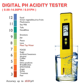 цена на  Large LCD Display Digital PH Meter Tester for Water Food Aquarium Pool Hydroponics Pocket Size Pen Type PH Tester Accuracy 0.01