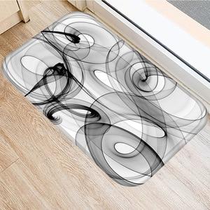 Image 2 - 40 * 60 Marble Lattice Rectangular Flannel Thick Carpet Washable Floor Mat Home Bedroom Hotel Decorative Floor Mat Bathroom Mat.
