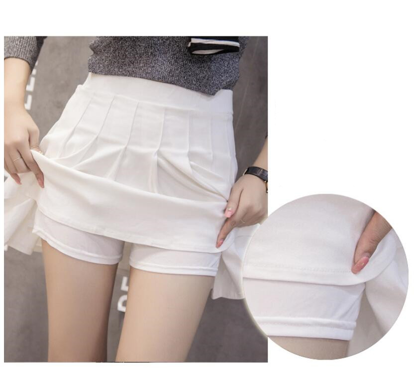 H4532989f32124c42acefeaa9c426b2fdO - Sexy Women Pleated Skirt Lovely Girl School Uniform Skirt Solid High Waist Mini Skirts Cute Female Pleated Mini Skirts