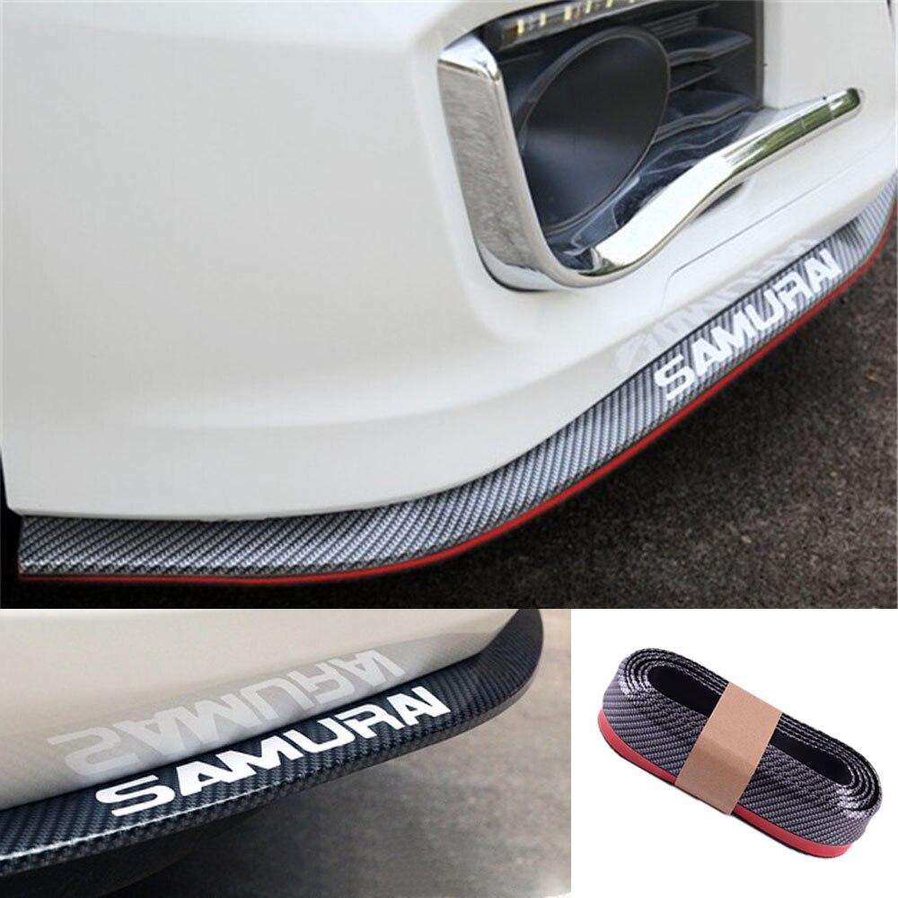 2.5m Car Front Bumper Lip Protector Splitter Car Sticker Body Kit Spoiler Bumpers Rubber Double Color Car Styling Car Accessorie