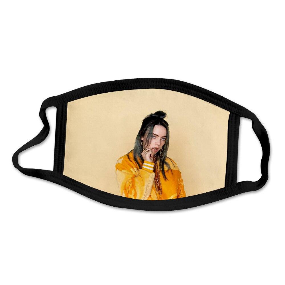 2020 Billie Eilish Mask Dustproof Anti-fog Fashion Printed Washable Mask For Adult Children School Office Cotton Mask