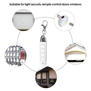 Image 4 - 433MHz אלחוטי שלט רחוק עם מפתח שרשרת שיבוט מעתק 4 כפתורים חשמלי נייד להעתיק בקר עבור מוסך דלת