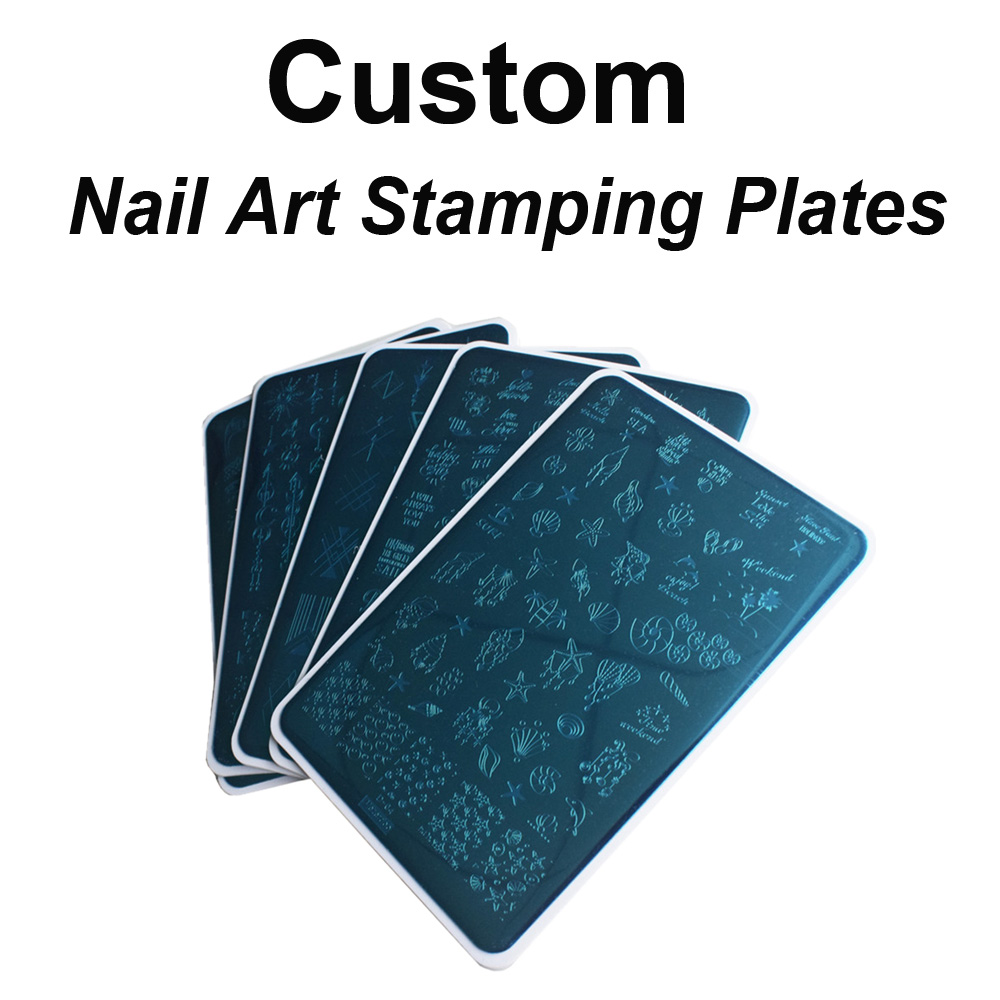 Custom Nail Art Stamp Nail Stamping Template With Your OWN Designs 100Pcs/Design
