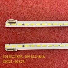 חדש 2 יח\סט LED תאורה אחורית רצועת עבור LG 6922L 0187A 60UH770V 60UH7700 6916L2485A 6916L2484A 60 V16 ART3 2485 2484 R L סוג