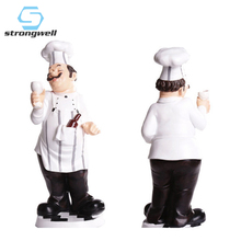 Strongwell European Chef Decoration Resin Crafts Modern Home Accessories Bar Restaurant Cafe Cake Shop Furnishings