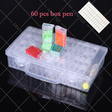 60 слот пластиковый контейнер для бутылок ящик хранения инструмент