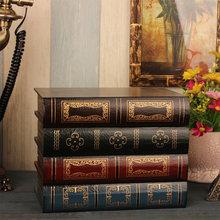 Retro Fake Book Storage Box Ornament Simulation Book Decoration Office Sundries Organizer Photo Prop