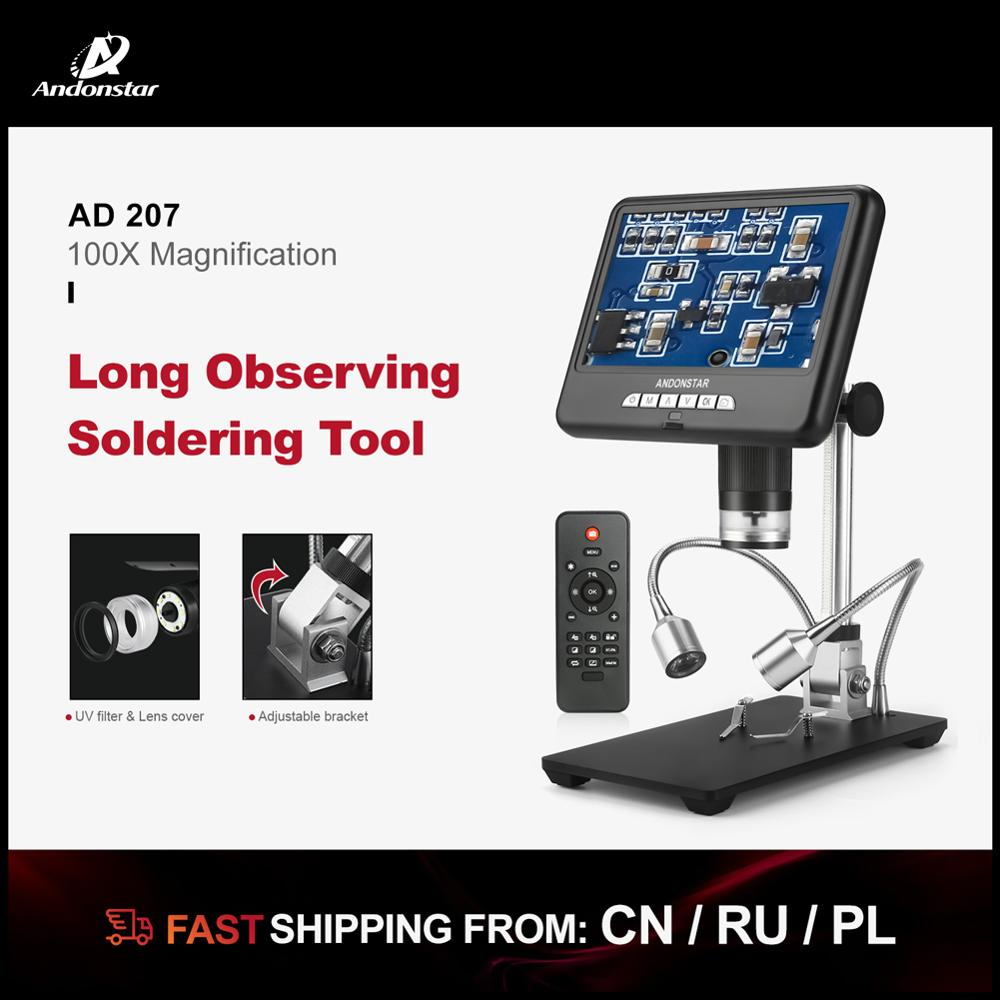 AD106S Digital USB Microscope 4.3 Inch Built-in Display THT SMD Tool Soldering Tool Jewelry Appraisal Phone Repair Multifunction And Easy To Operate