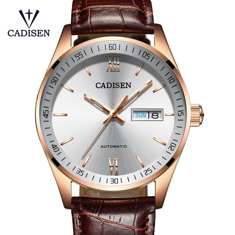 CADISEN C1020 Men Watches Automatic Mechanical Watch Top Brand Luxury Automatic Fashion Mechanical Watch Clock Relogio Masculino