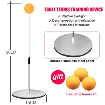Pingpong Trainer Table Tennis Trainer Stainless Steel Wood Practical Athletics Racquet Play Table Tennis Practice Portable original joola table tennis case bag gourd shape 818 high quality hard shell table tennis rackets racquet sports pingpong case