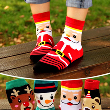 4/5Pairs Merry Christmas Casual Cartoon Cotton Socks Santa Claus Funny Sock Man Women Coral Winter Keep Warm Decor New