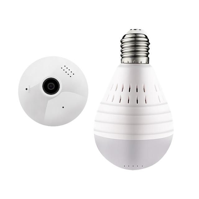 IP מצלמה 360 תואר LED אור 960P אלחוטי פנורמי בית אבטחת אבטחת WiFi CCTV Fisheye הנורה מנורת שתי דרכים אודיו