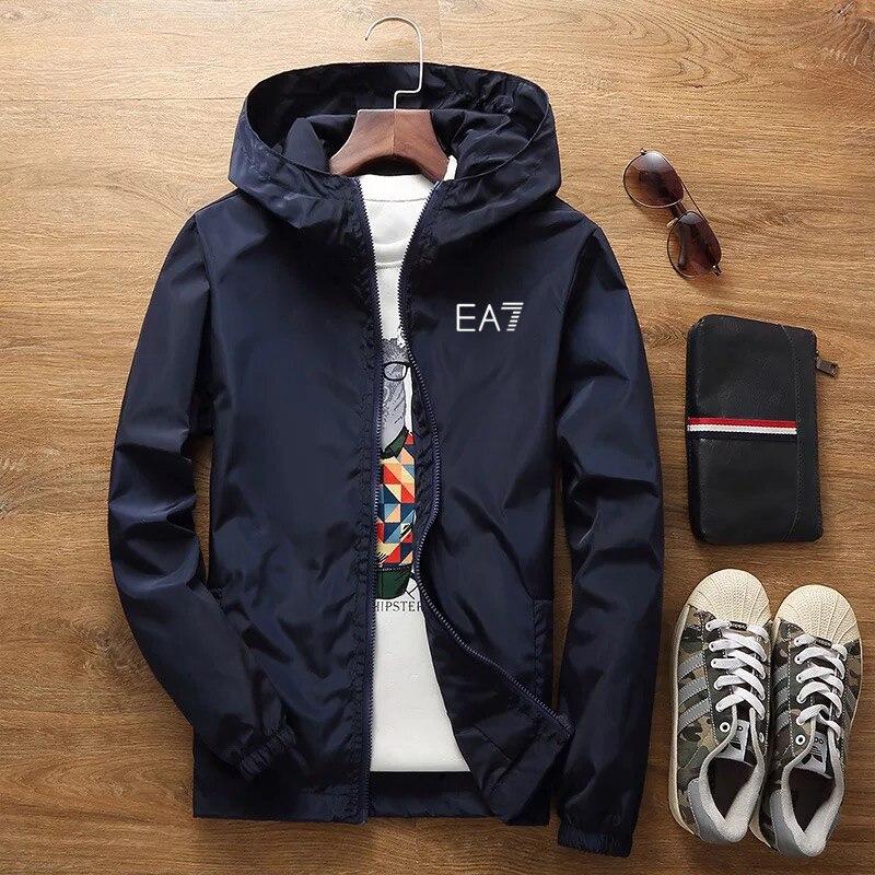 2020 spring and summer new jacket men's street brand windbreaker hoodie zipper thin jacket men's casual jacket 7XL