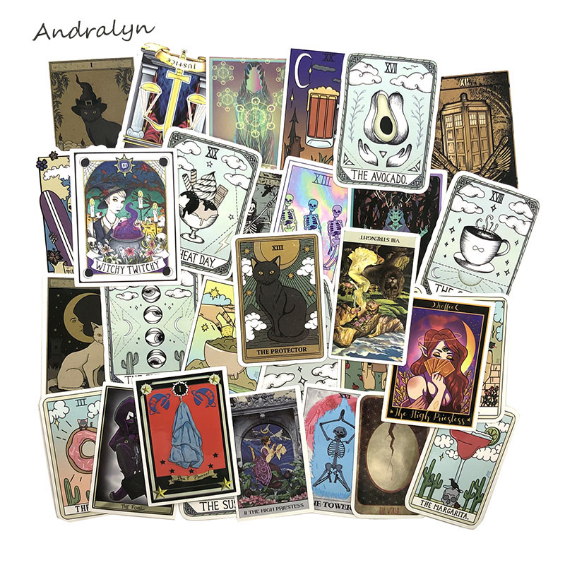 50Pcs/Set Tarot Card Graffiti Stickers For DIY Luggage Laptop Refrigerator Motorcycle Car DIY Pegatinas