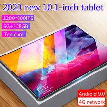best selling 2020  tabletas 10.1inch 2 in 1 tablet  6gb ram 128gb Android 9.0 4G network dual card dual standbySupport zoom