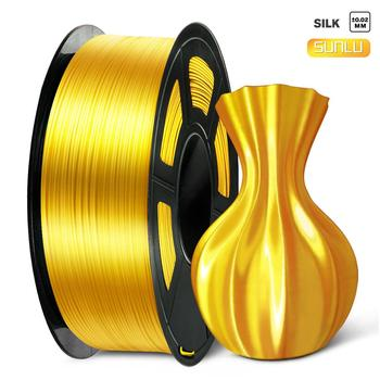 PLA Silk Gold 1kg 1.75mm Silk Texture 3D Printer Filament with Spool Colorful Eco-friendly Material for DIY Artwork Prin