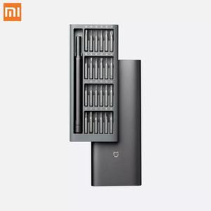 Image 1 - Оригинальный комплект отверток Xiaomi Mijia 24 в 1 магнитные ремонтные инструменты алюминиевая коробка комплект отверток Mijia