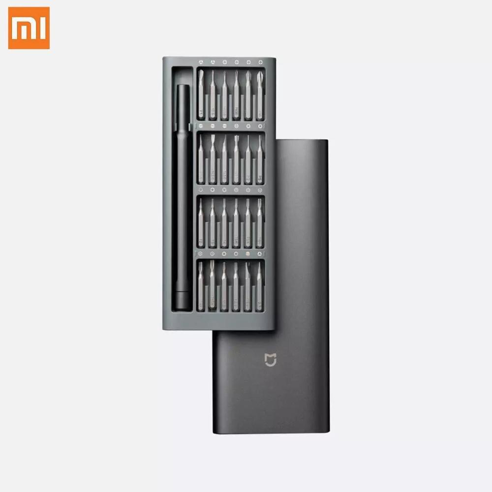 Ferramentas de Reparo 24 em 1 Kit de Driver de Parafuso Original Xiaomi Mijia Magnético Alluminum Caixa