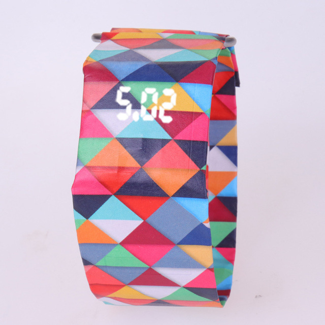 2020 Trendy DIGITAL LED Watch Paper Water/Tear Resistant Watch Perfect Gift 15 4