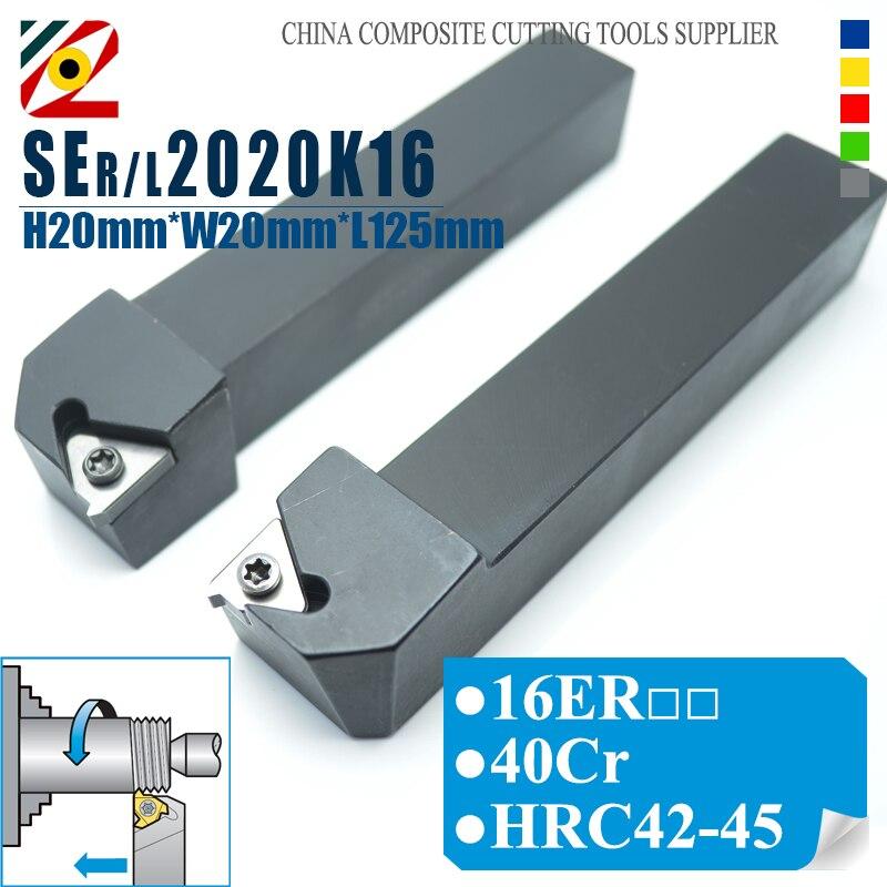 EDGEV SER2020K16 SEL2020K16 SER/L2020K22 CNC Lathe Cutter External Threading Tool Holder Turning Tools 16ER 22ER Thread Inserts