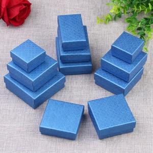 Image 5 - Coffret carré blanc Simple pour bijoux, coffret pour fiançailles, présentoir pour bagues, boucles doreilles, Bracelet, coffret cadeau de saint valentin, tendance