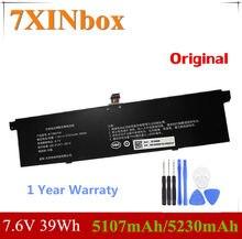 7 xinbox 7.6 v 39wh 5107 mah/5230 mah original r13b01w r13b02w bateria do portátil para xiao mi ar 13.3