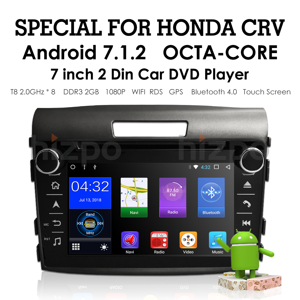 Car Radio Multimedia Audio Player Navigation <font><b>GPS</b></font> 2Din For <font><b>Honda</b></font> <font><b>CRV</b></font> 2012 <font><b>2013</b></font> 2014 2015 2016 Car Monitor SWC RDS DAB DVBT BT USB image