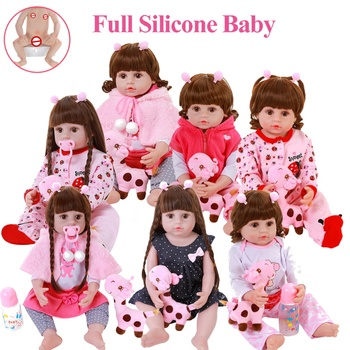 Kids Toys Doll 22inch 56cm Full Body Silicone Bebe Reborn Baby Alive Bath Toy Playmate Realistic Menina Cute Toddler Child Gifts