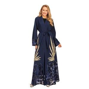 Ramadan New Kimono  Embbroidery Open Abayas Islamic Clothing Muslim Fashion Women Dresses Abaya Dubai