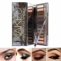 MYG naked smoky eye shadow Palette eyes makeup Eye shadow 12 colors matte glitter heat with Eye shadow brush