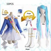 2020 Snow Hatsune Miku The Princess Dress Uniform Outfit Ani