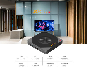 ТВ-приставка XGODY X99 6K HD для Smart TV, Android 9,0, 4 Гб, 32 ГБ, 64 ГБ, Wi-Fi, мини-медиаплеер для Google Play, YouTube, Netflix, ТВ-приставка