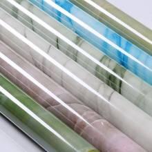 Pegatinas de PVC para pared de cocina, papel tapiz autoadhesivo impermeable para encimera de mármol, 60cm x 10M