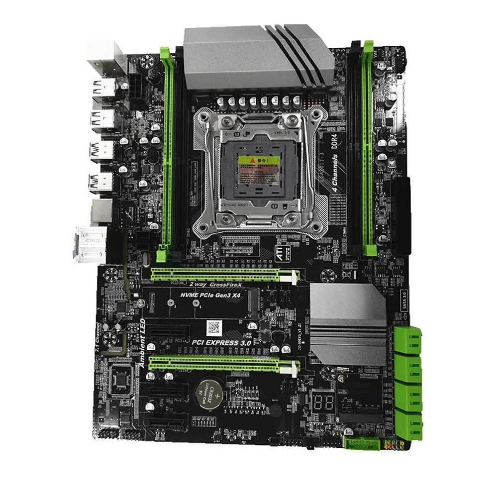 メインボードのための LGA2011 I3 I5 I7 Xeon マザーボード LGA 2011 × 99 4 チャンネルメモリ DDR4 64 グラム REG ECC SATA 3.0 と M.2 SSD コンピュータ