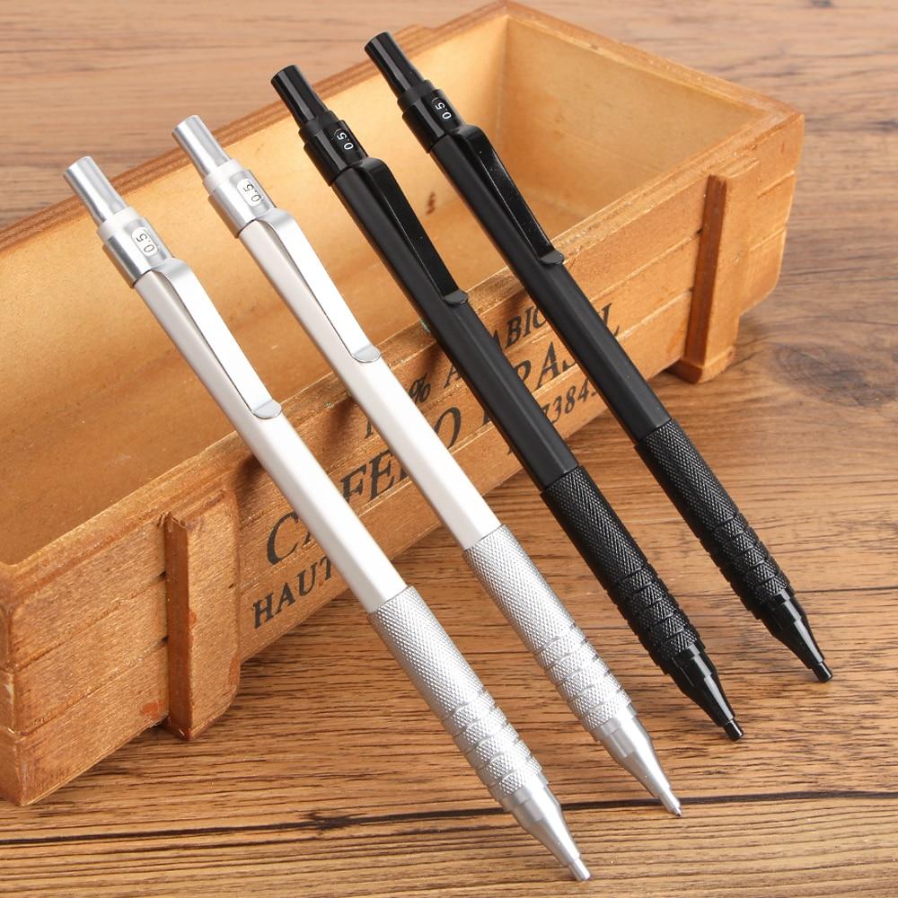 1 Stück / Los 0,5 mm Druckbleistifte Metallhülle Büro- und Schulbriefpapier Schreibzubehör