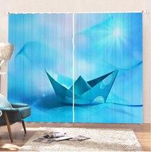 Морские шторы на паром занавески для ванной с 3d принтом ландшафтные
