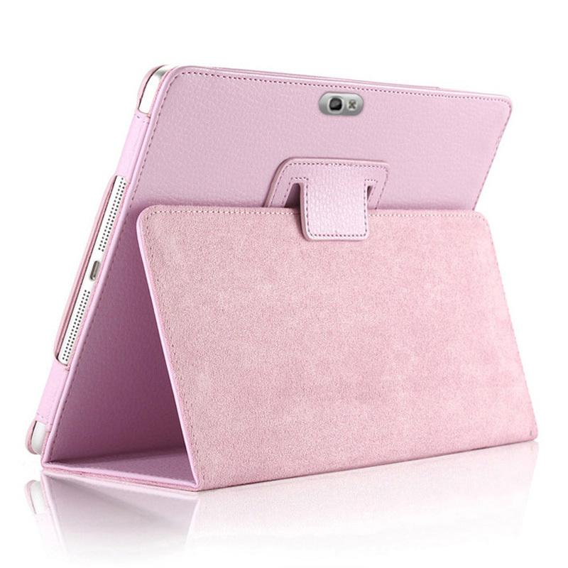 Magnet Case for <font><b>Samsung</b></font> Galaxy Note 10.1 2012 <font><b>GT</b></font>-N8000 N8000 N8010 N8020 Tablet Cover Flip Stand PU Leather Cap Folio Stand Back image