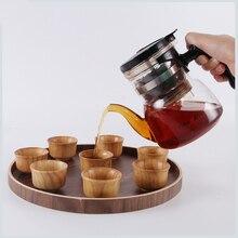 6 шт./компл. Деревянный Чай чашки прекрасное дополнение к любому многоразовые кружки для Кофе вода сок вина Стекло ручной питьевой инструмент