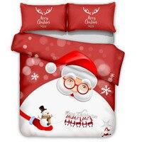 christmas bedding set santa claus comforter bedding sets deer skull duvet cover set kids bedding bed cover set queen king size