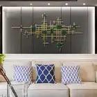 Europeu de ferro forjado decoração da parede pingente casa sala tv fundo parede pendurado artesanato hotel escritório adesivo murais - 3
