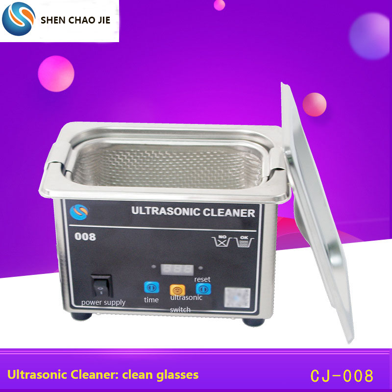 Ultrasonic Cleaner 35w 800ml Household Digital Stainless Steel Basket 110V 220V Ultrasound Cleaning For Denture Watches Glasses