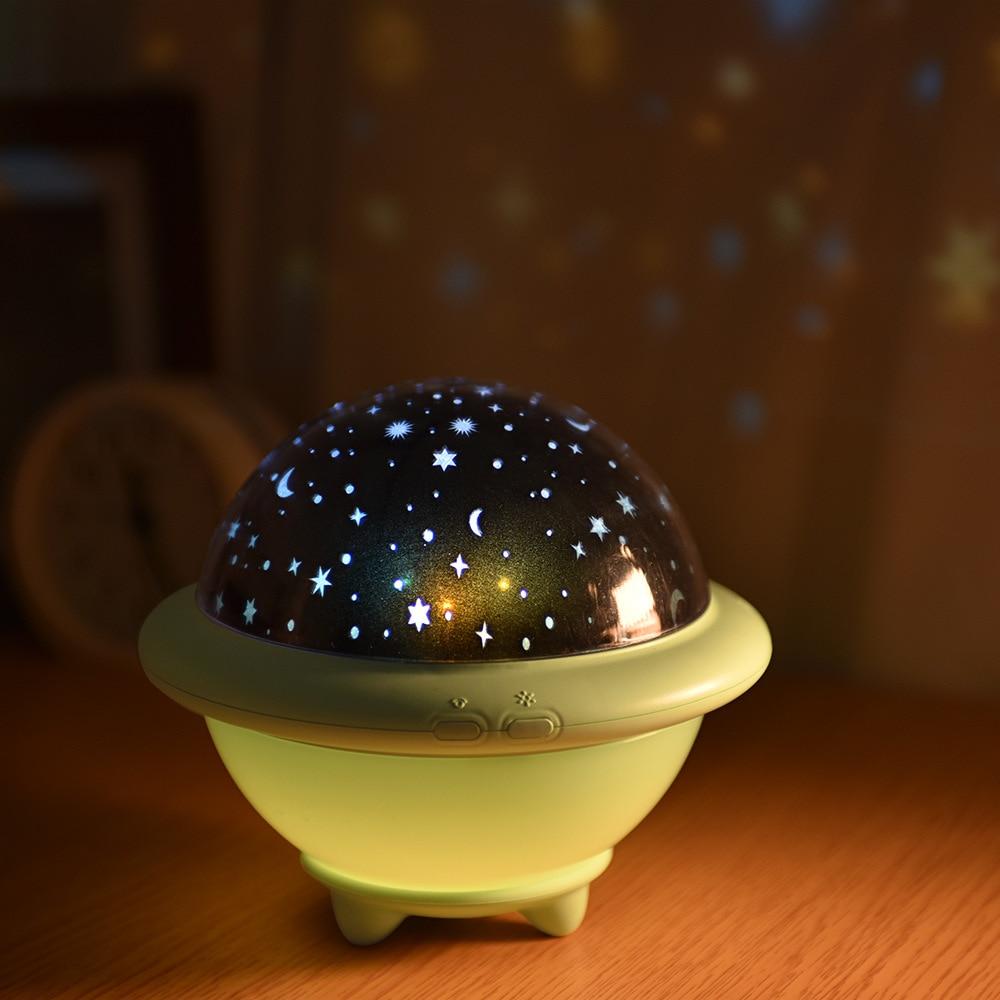 2019 NEW Dropship Night Light UFO Stellar Projection Lamp Children's Bedside Lamp  Night Lamp  Christmas Lamp